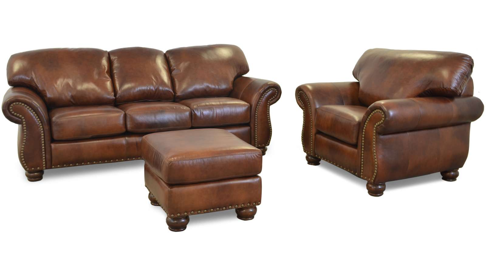 Vintage Leather Furniture Manufacturing Matilda leather sofa photo. Leather furniture manufacturer in the USA
