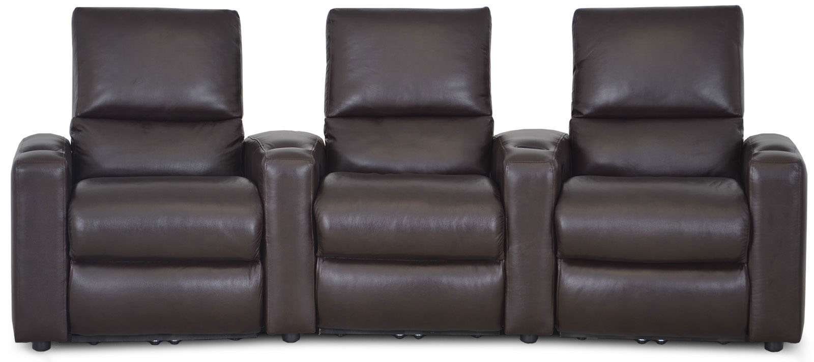 Vintage Leather Furniture Manufacturing home theater media seating leather sofa. Leather furniture manufacturer in the USA.