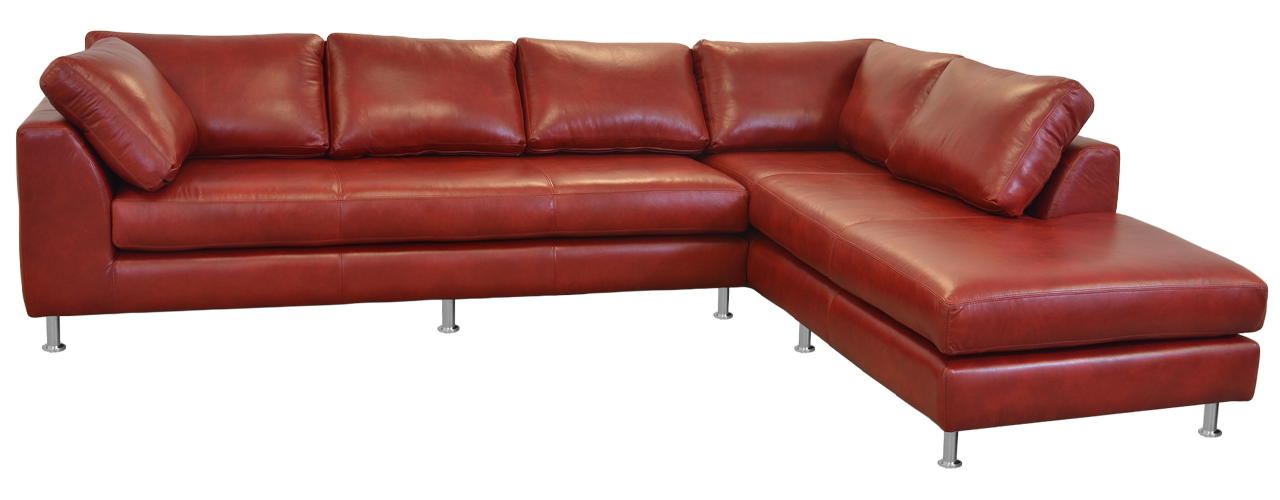 Vintage Leather Furniture Manufacturing Made in the USA leather sectional sofa. Leather furniture manufacturer in the USA.